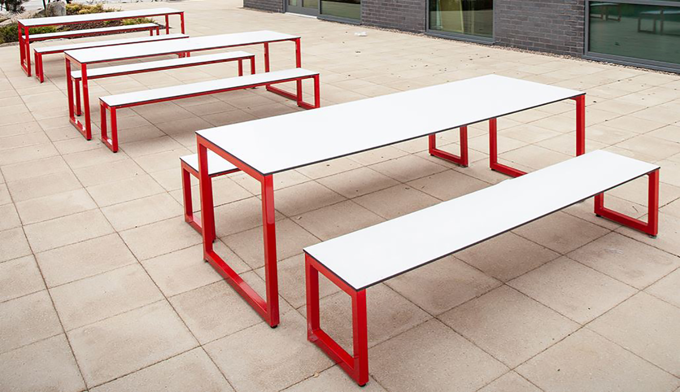 Axiom Block Outdoor Bench Seating Shop Now At Huddle