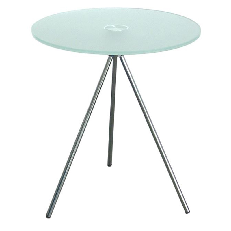 500mm Round Frosted Glass Coffee Table By Huddle Furniture Ltd