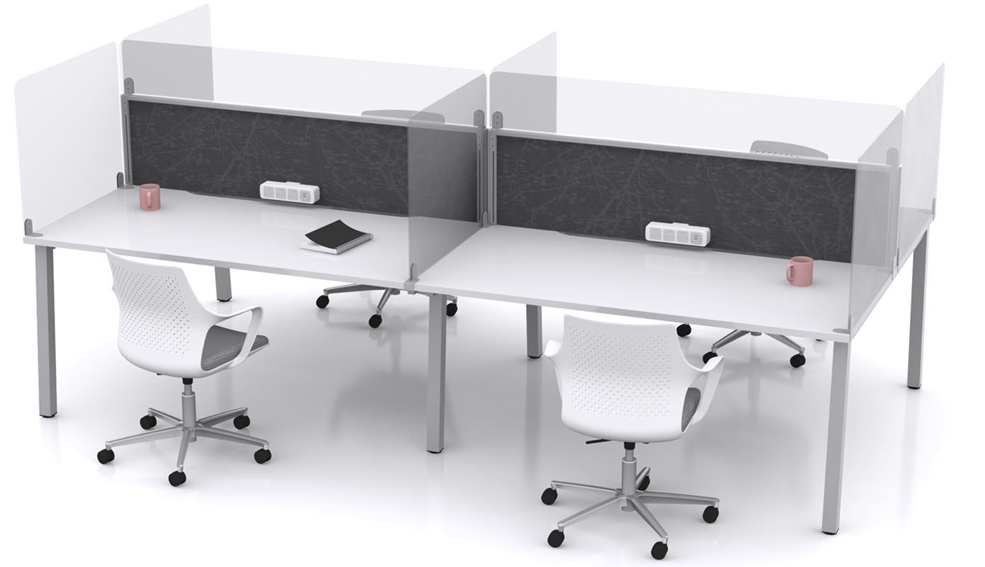 Add-on Perspex Desk Screen | Shop Now at Huddle Furniture