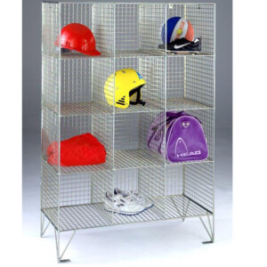 Wire Mesh Lockers 12 Compartments No Doors