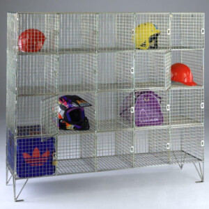 Wire Mesh Lockers With 20 Compartments With Doors