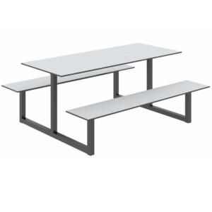 Parc Outdoor Table And Benches